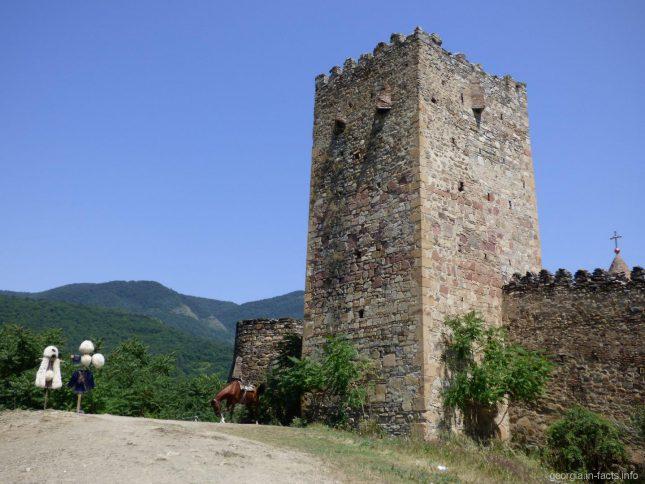 Башня в Ананури, на которую можно подняться