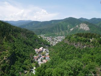 Боржомское ущелье с высоты, Грузия