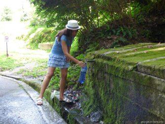 Источник с питьевой водой в ботаническом саду Батуми
