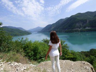 Любуемся Жинвальским водохранилищем