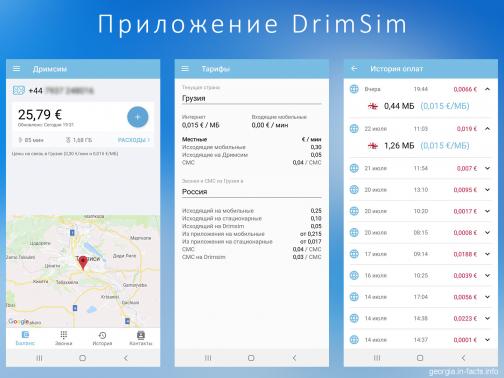 Мобильный интернет в Грузии от DrimSim