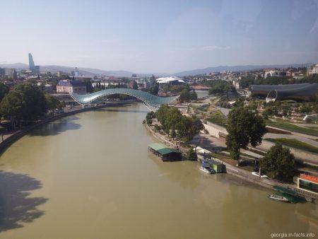Мост Мира и две трубы в Тбилиси
