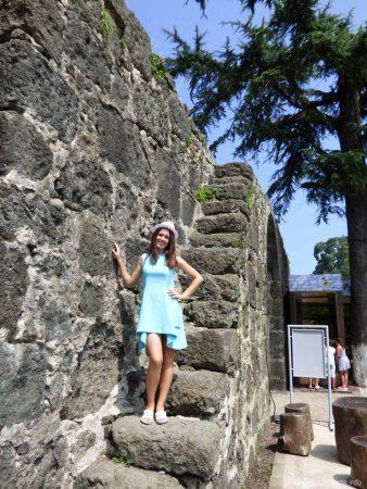 На стенах крепости Гонио