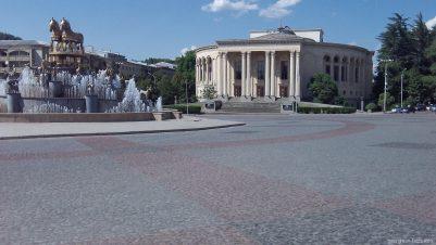 Площадь Давида Агмашенебели в Кутаиси