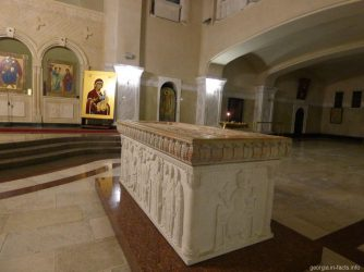 Пустой саркофаг в Храме Самеба