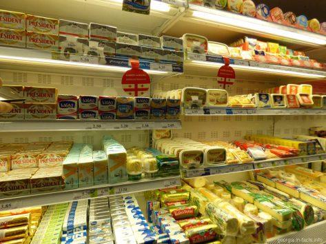 Разнообразие масла в магазинах Батуми