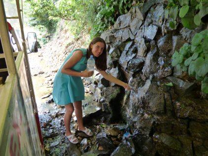 Родник с чистейшей водой в Аджарии