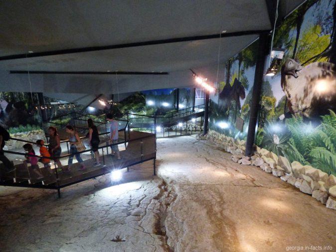 Специальный мостик по которому ходят туристы