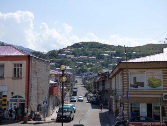 Типичная улочка в городе Ахалцих