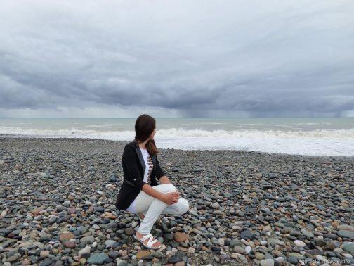 В августе на пляже Батуми