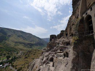 Вид на горы и монастырь Вардзия, Ахалцих