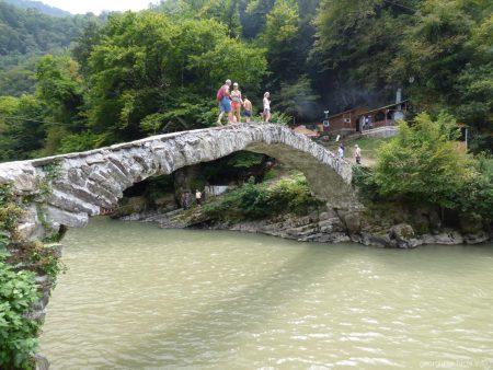 Возле моста царицы Тамары в Аджарии