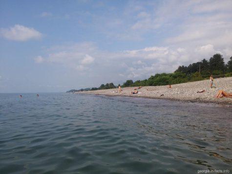 Пляж около ботанического сада города Батуми