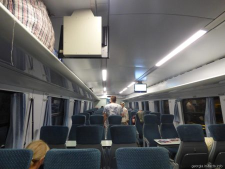 В поезде Батуми Тбилиси