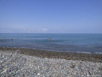 Батумский берег и море в августе