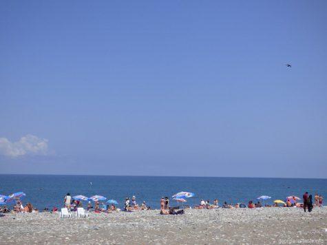 Часть центрального пляжа в Батуми
