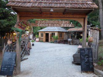 Один из ресторанов на горе Мтацминда в Тбилиси