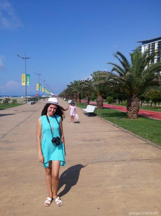 Приморский парк Батуми в августе