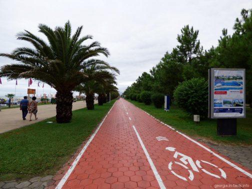 Велодорожка в приморском парке Батуми