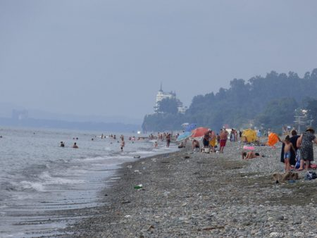 Район пляжа Чакви в Грузии