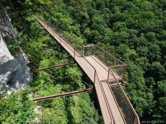 Мост над каньоном Окаце, экскурсия каньоны в Грузии