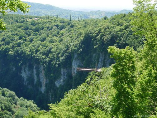 Обзорная площадка каньона Окаце, Грузия