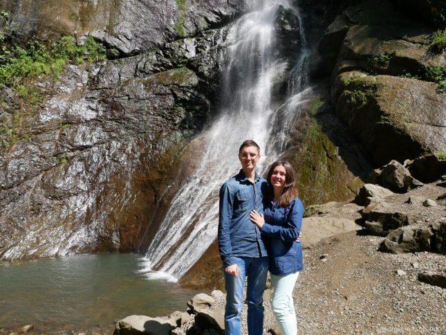 Водопад Махунцети во время индивидуальной экскурсии по горной Аджарии, Грузия