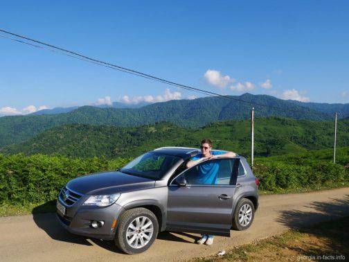 Арендованное нами авто в Батуми, Грузия