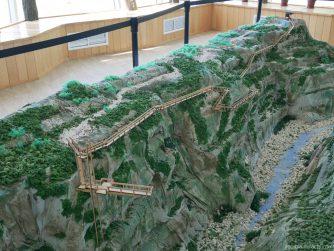 Макет каньона Окаце внутри визит центра, Грузия