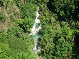 Река Окаце с водопадами, Грузия