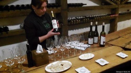 Дегустация кахетинских вин на заводе