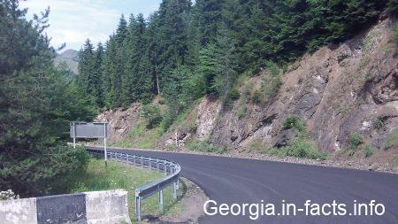 Дорога из Бакуриани в Боржоми летом