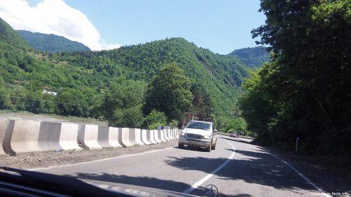 Горная дорога в Грузии