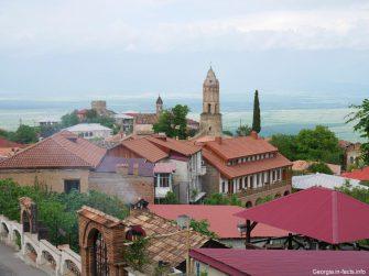 Красивый город Сигнахи в Грузии