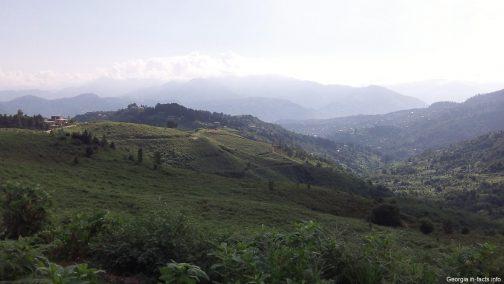Летний горный пейзаж рядом с Батуми