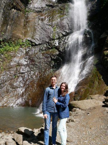 Водопад Махунцети в Аджарии Батуми